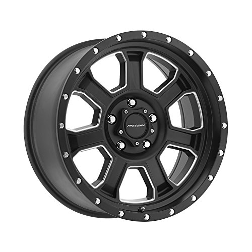 Pro Comp Wheels 5143-7973 Xtreme Alloys Series 5143 Satin Black Finish Size 17x9 Bolt Pattern 5x5 in. Back Space 4.75 in. Offset -6 Max Load 2500 Xtreme Alloys Series 5143 Satin Black Finish ()