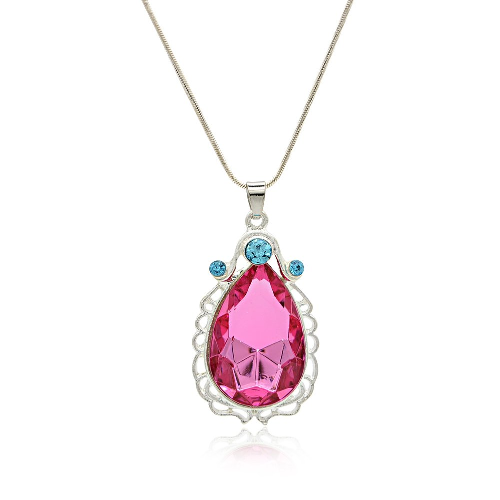 Wxbox Birthday Amulet Crystal Teardrop Necklace Fashion Jewelry Gift for Girls DAL17479