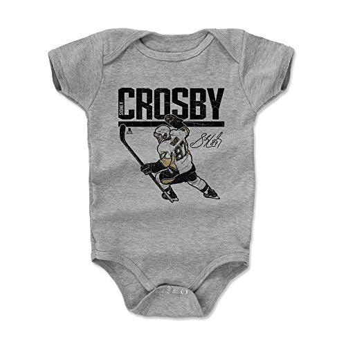 500 LEVEL Sidney Crosby Pittsburgh Penguins Baby Clothes, Onesie, Creeper, Bodysuit (3-6 Months, Heather Gray) - Sidney Crosby Hyper K