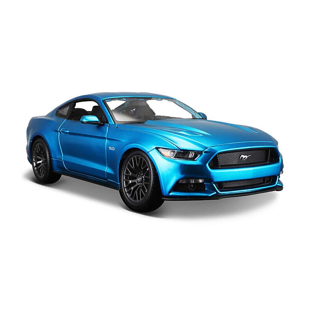 Hyzb Modèle de Voiture Voiture 1 18 Ford Mustang Simulation en Alliage de Moulage sous Pression Jouet OrneHommests Collection de Voitures de Sport Bijoux 25.2x11.2x7.9CM