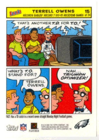 Terrell Owens (Football Card) 2005 Topps Bazooka # 15 Comics