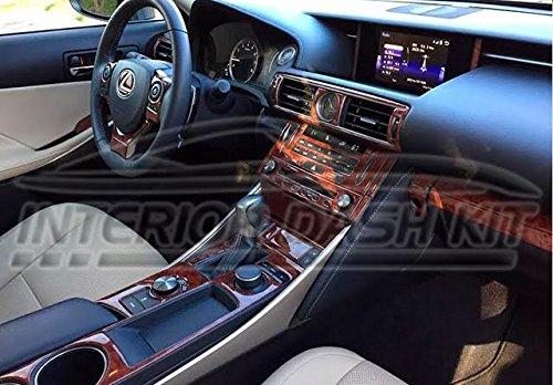Lexus is 250 300 350 IS250 IS350 IS300 Interior BURL Wood Dash Trim KIT Set 2014 2015 2016 2017 2018 -