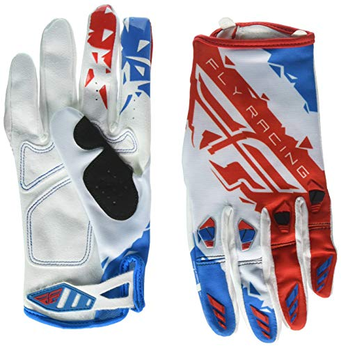 Fly Racing Unisex-Adult Kinetic Gloves (Red/White/Blue, XX-Large)