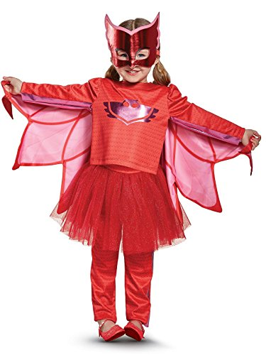 Owlette Prestige Tutu Pj Masks Costume, Red, Small (2T)