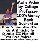 COMPASS Algebra DVDs by College Math Professor-Over 6 Hours http://www.amazon.com/shops/math_videos