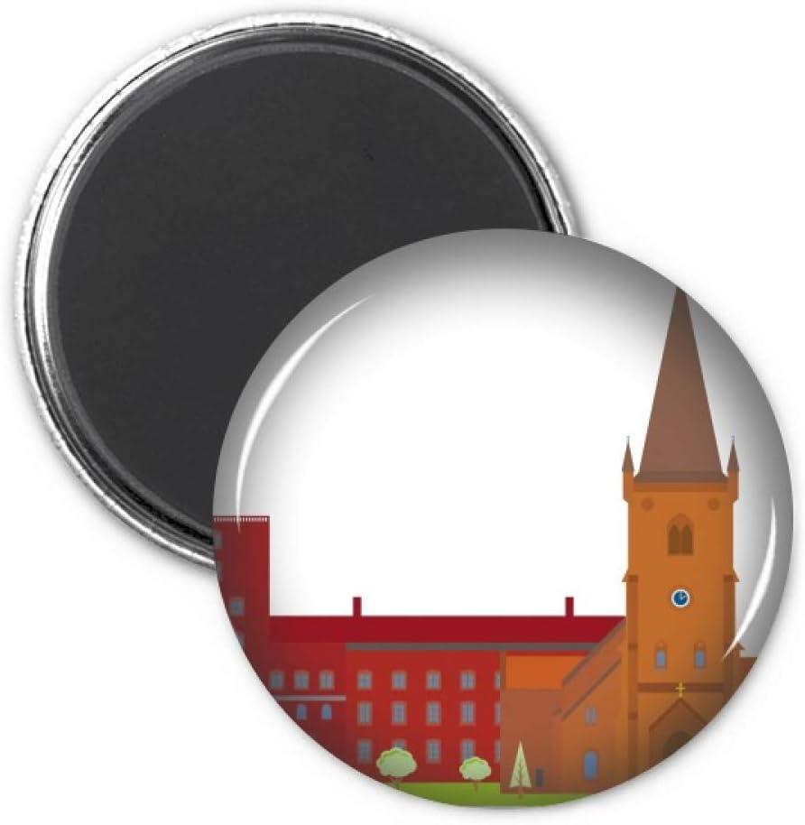 Danish Koling National Landmark Building Refrigerator Magnet Sticker Decoration Badge Gift