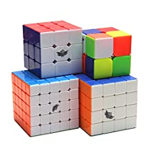 Set of cyclone boys 2x2,3x3,4x4,5x5,sticker magic cube ( 4 in packed)