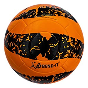 Bend-It Soccer, Reverse-Curl-It Pro Amber, Soccer Ball Size 5, Official Match Ball With VPM And VRC Technology