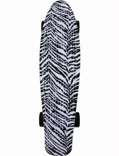 Fish Skateboard Zebra Animal Print Retro Plastic Cruiser - Retro Zebra