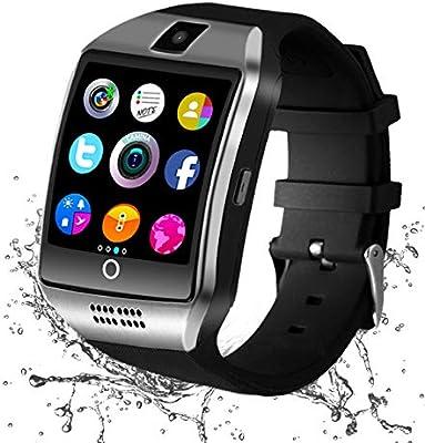 Reloj Inteligente Bluetooth, Smartwatch Pantalla Táctil Impermeable Smart Watch con Camara, SIM/TF Ranura Whatsapp Sports Podómetro Reloj Bracelet ...