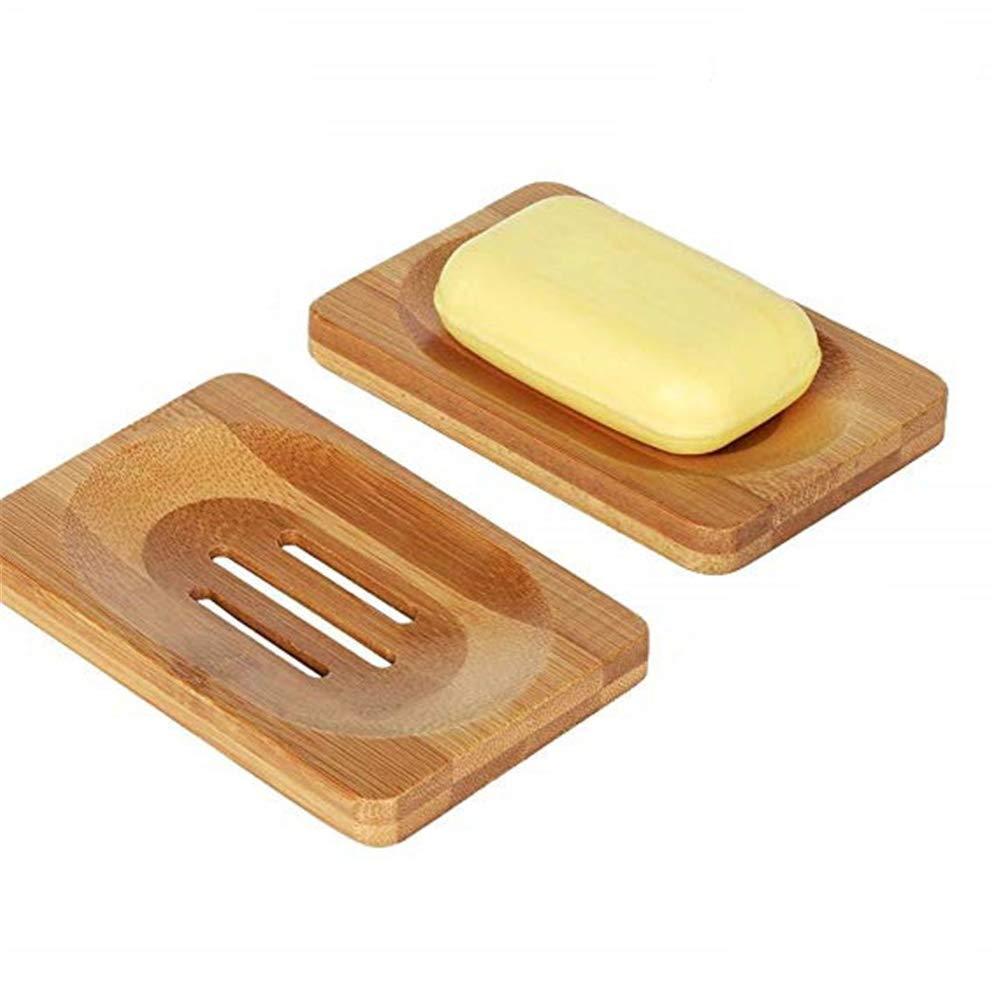MUXItrade 2 pezz portasapone bagno accessori mano artigianale di sapone in bambù naturale di supporto