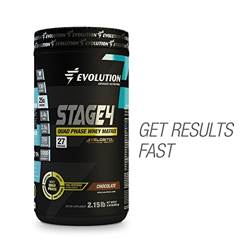 Evolution Advance Nutrition GRASS FED STAGE 4 Quad Phase Whey Protein Matrix (2 lbs, Chocolate) | Hydrolyzed Whey Protein + Whey Protein Isolate + Concentrate + Whey Peptides | For Men & Women