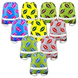 Football Party Supplies Favors Bags 10 Pack, Reflective Sports NFL Drawstring Backpack Bags Bulk