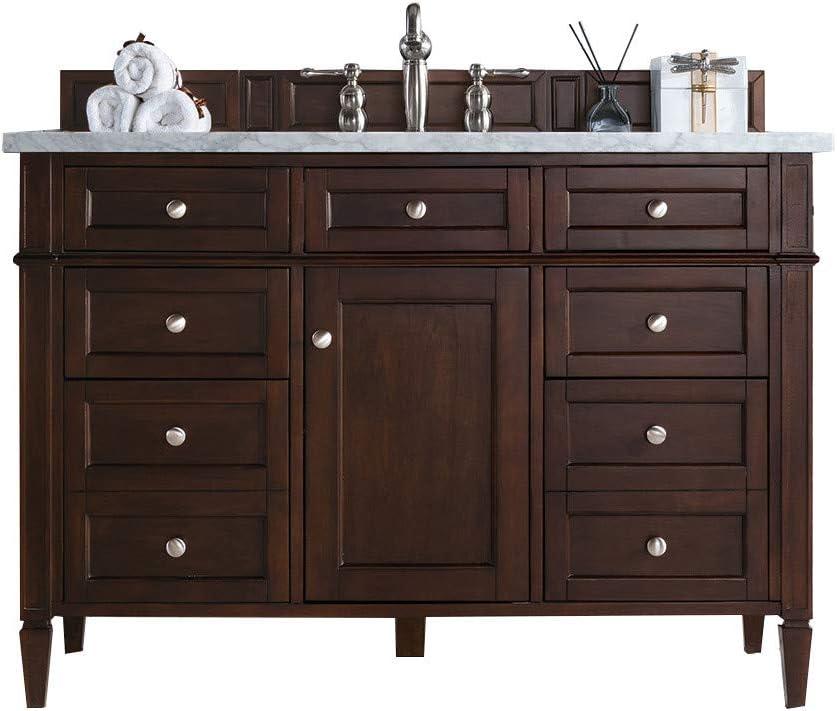 "James Martin Furniture 650-V48-BNM-4GLB Brittany Collection 48"" Single Vanity, Choose Finish: Galala Beige Marble, Vanity Top Thickness: 4CM Vanity Top Thickness"