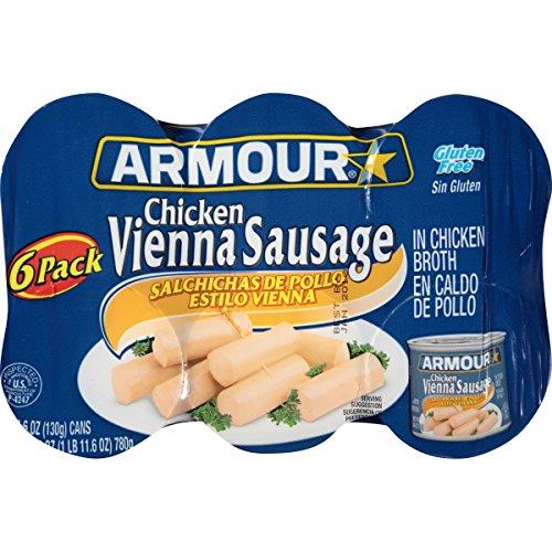 Armour Vienna Sausage, Chicken, 6 Count (Armour Sausage)