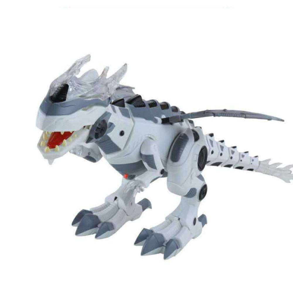 gikmhyb Tier-Geburtstagsgeschenk des Elektrischen Dinosaurierspielzeugs Der Kinder Plastiksimulation,Grün Weiß