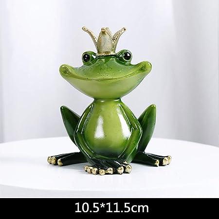 yueyue947 Más tamaño Resina Yoga Estatuillas de Rana Jardín nórdico Manualidades Decoraciones Tienda de porches Adornos de Animales para Accesorios para el hogar/Sit Frog L: Amazon.es: Hogar