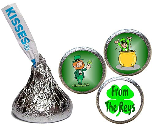 (St Patrick's Day Stickers for the Bottom of Chocolate Kisses (Set of 108)(KH32))