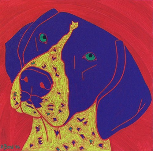 (German Shorthaired Pointer Dog Art Matted Print by Angela Bond )