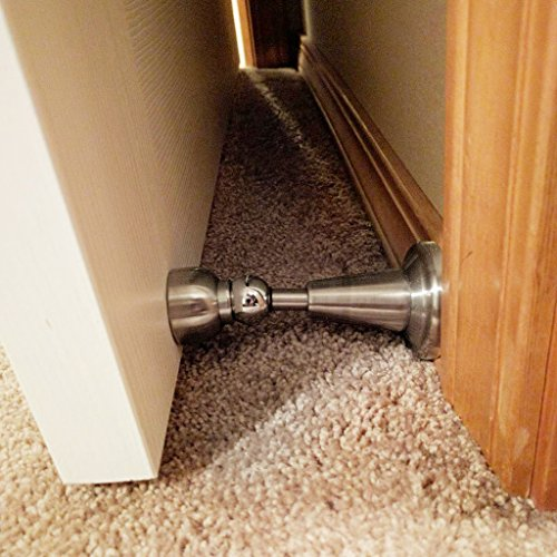 Sumnacon Powerful Magnetic Doorstop - Hydraulic Buffer Sound Dampening Door Stopper with Hardware Screws, Heavy Duty Stainless Steel Home Office Commercial Industrial Door Holder by Sumnacon (Image #4)