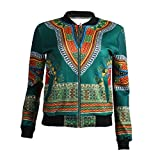 Tootless Women Dashika Navajo Floral Jackets Full-zip African Vintage Tops AS4 Small