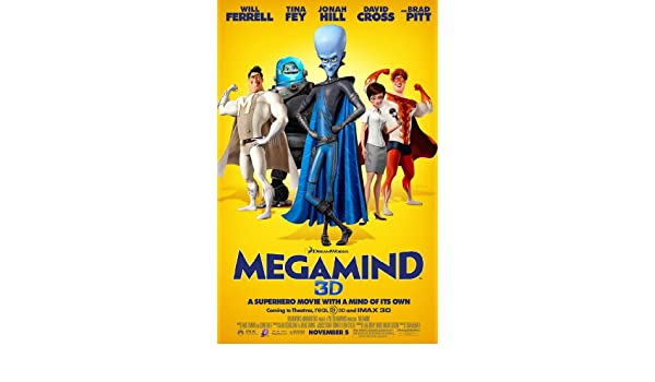 MEGAMIND MOVIE POSTER 2 Sided ORIGINAL FINAL 27x40 WILL FERRELL