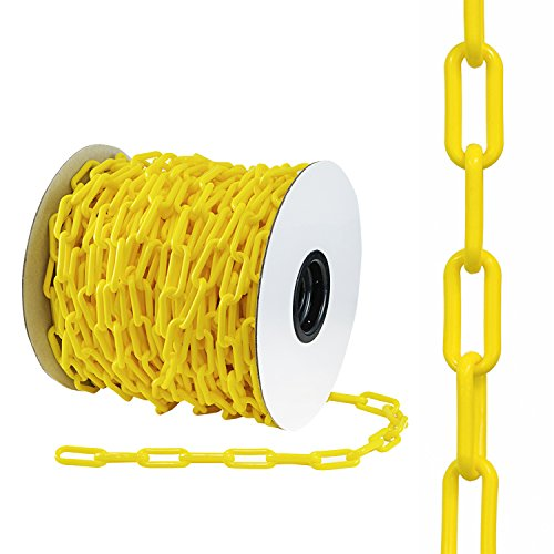 Filled Beads Chain Cable Link - Houseables Plastic Chain, Safety Barrier, 124 Foot, 2