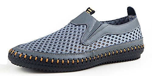 MOHEM Men's Poseidon Slip-On Fashion Sneakers(3177Gray46)