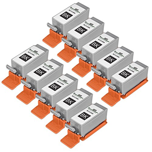 Speedy Inks - Compatible 10PK CANON BCI-15 BCI15 Black Printer Ink Cartridges for i70, i80, Pixma iP90, Pixma ()
