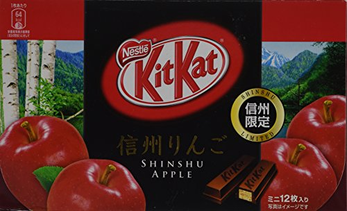 Japanese Kit Kat - Shinshu Apple Chocolate Box 5.2oz (12 Mini Bar)