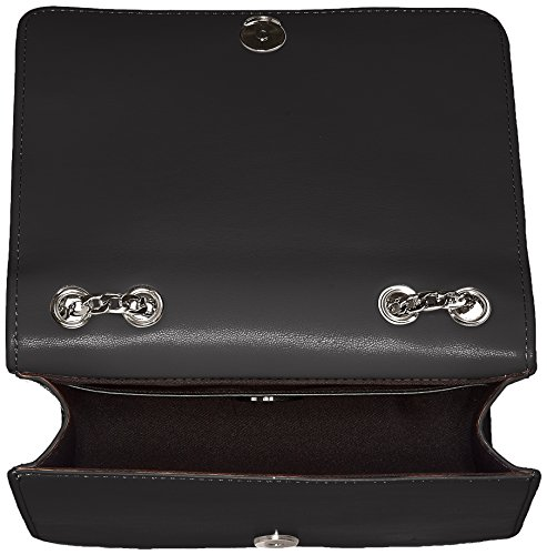 Love Moschino Nappa Pu Nero - Borse Baguette Donna, (Black), 9x15x21 cm (B x H T)