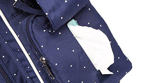 Multi-funcional bolso de la momia, paquete de la madre de los hombros de la capacidad grande, para ser paquete de la madre-en-ley, mujeres embarazadas van mochila ( Color : Luz Violeta ) Negro