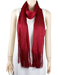 Shimmer and Shine Fringed Scarf
