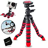"""Xtech 12"""" Inch Flexible Tripod with Quick Release Plate for GoPro HERO4 Session, HERO4, GoPro Hero3+, GoPro Hero3, GoPro Hero2, GoPro HD Motorsports HERO, GoPro Surf Hero, GoPro Hero Naked, GoPro Hero 960, GoPro Hero HD 1080p, GoPro Hero2 Outdoor Edition Digital Cameras"""