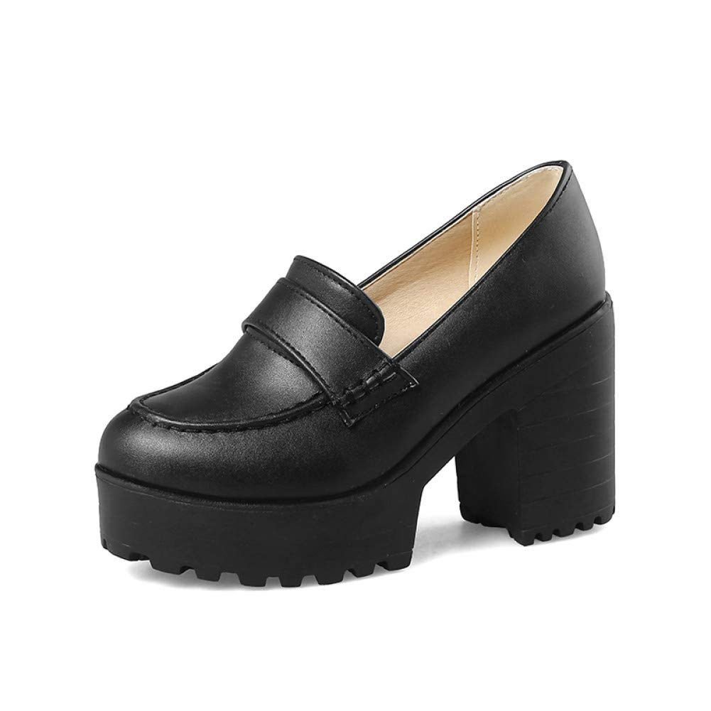 Ai Ai Ai Ya-liangxie Große Größen 34-43 Plattform Frühling Sommer Schuhe Fashion Square Frau Pumps High Heels Schwarz Damenschuhe Schuhe 02f39a