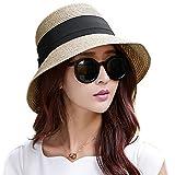 Kyпить Siggi Womens Floppy Summer Sun Beach Straw Fedoras Hats Accessories Wide Brim Coffee на Amazon.com