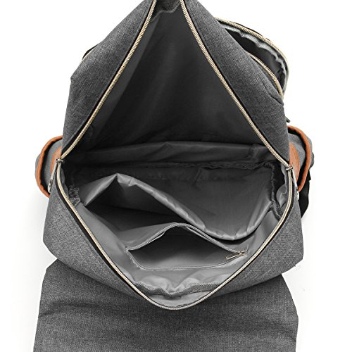 Sport Vintage Laptop Handbag Rucksack Unisex Backpack Grey Green Casual Business Daypacks Travel OURBAG qRt5W