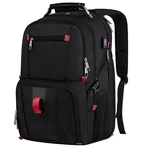 Travel Laptop Backpack,TSA Friendly Scansmart Computer Back Pack with USB Charging Port/Headphone Hole for Men & Women,Professional Large Capacity Backpacks Fit 17-17.3 Inch Laptops & Notebooks, Black