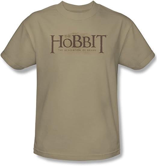 Hobbit - Hombres camiseta del logotipo de textura, Large ...