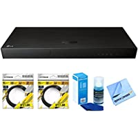 LG 4K Ultra-HD Blu-ray Player with Multi HDR (UP970) with 2x General Brand 6ft High Speed HDMI Cable Black, General Brand Universal Screen Cleaner for LED TVs, General Brand 1 Piece Micro Fiber Cloth