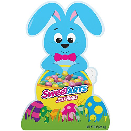 SweeTARTS Jelly Beans Bunny Shaped Box of Easter Candy, 9 oz