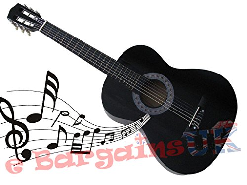 "3/4 Size 36"" Acoustic 6 String Guitar (Black)"
