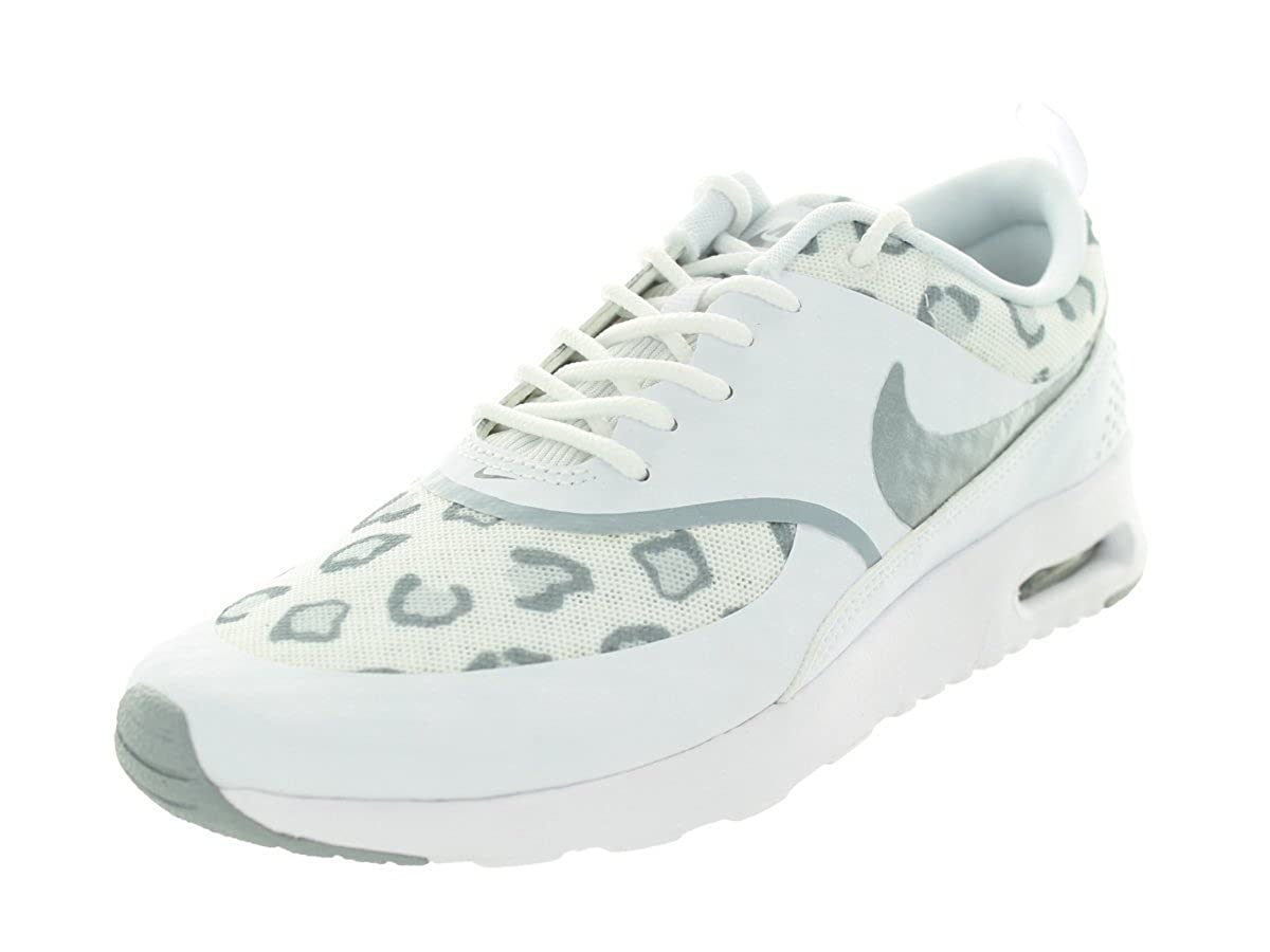 White Wolf Grey Pure Platinum Nike Women's Air Max Thea Low-Top Sneakers, Black