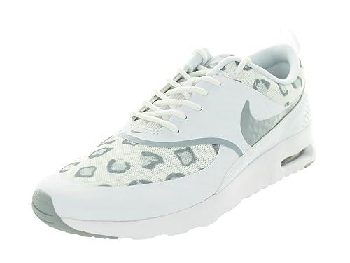 Nike Platinum Grey Print Air Max Thea Trainers | Platinum