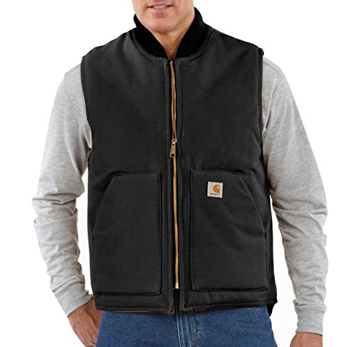 Carhartt Men's Big & Tall Duck Vest Arctic Quilt Lined,Black,Large Tall