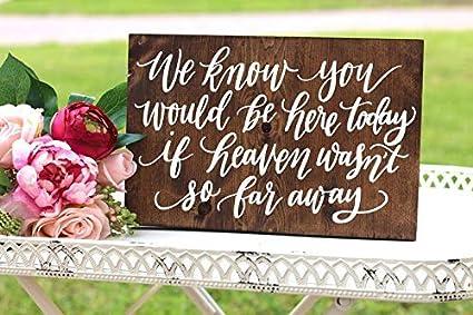 Amazon com: Funlaugh in Loving Memory Sign Rustic Wedding