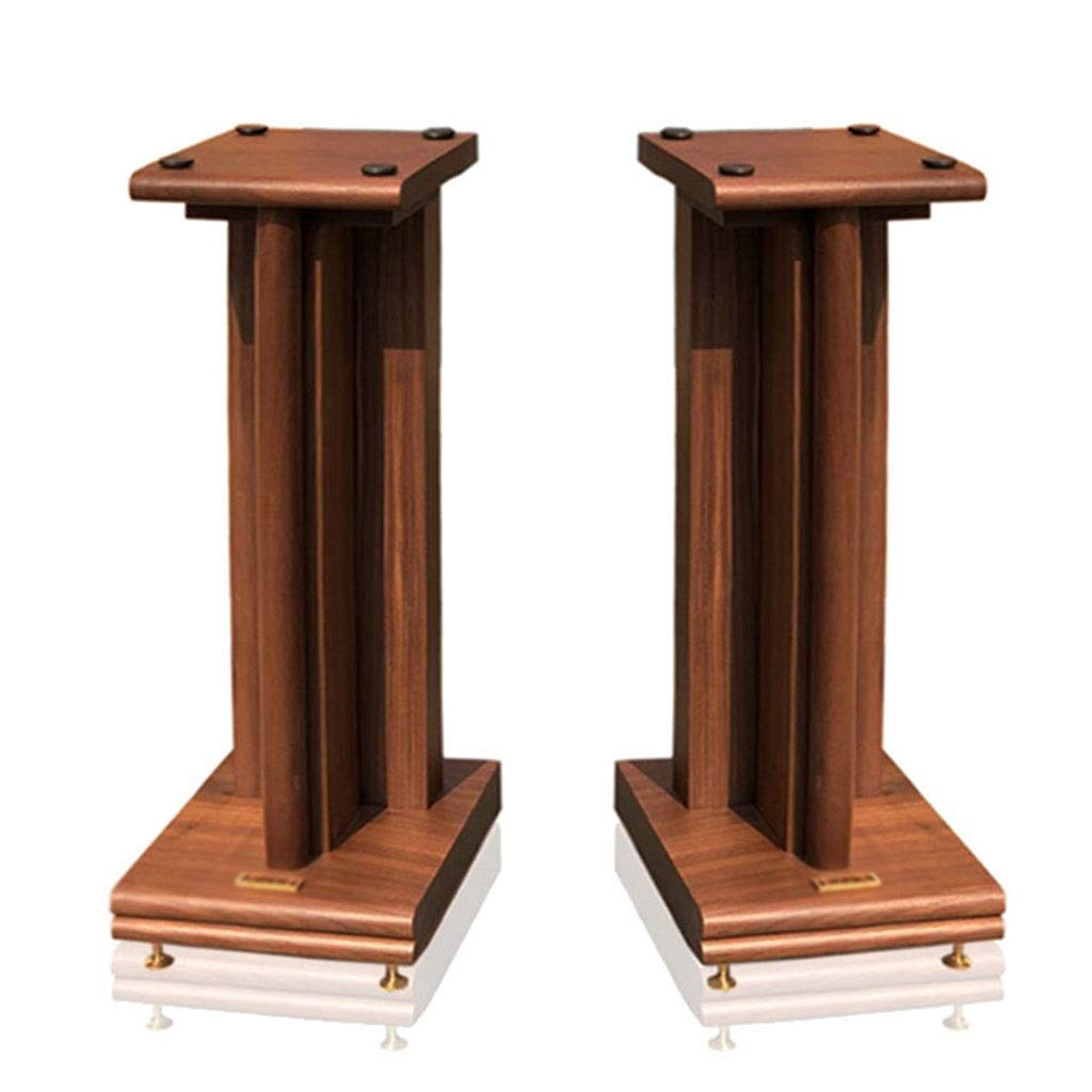 Speaker Stands Monitor Stands Audio Stand Bookshelf Living Room Flower Stand Music Room Bracket A Pair Home Theatre (Color : Wood Color, Size : 21.52880) by Speaker Stands