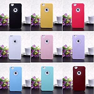 QHY Engraving Flower Plastic Hard Protective Case for iPhone 6 Plus(Assorted Colors) , Black