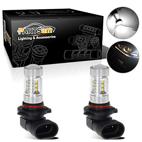 2009 03 Chevy Avalanche Driving - Partsam 9005 Daytime Running Lights White 3030-SMD 80W Seoul LED 9145 HB3 Fog Driving Light Compatible with Honda Pilot 2009 2010 2011 2012 2013