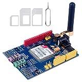 SODIAL SIMCOM SIM900 GSM GPRS Quad-Band Modules 2G Development Shield Board for Arduino UNO R3 Mega with antenna and Nano Sim Adapter